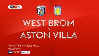 West Brom 1-0 Aston Villa (AET) 3-4 pens