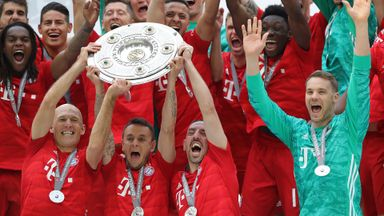Bayern win 7th straight Bundesliga title