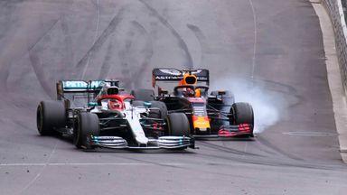 Hamilton and Verstappen collide!