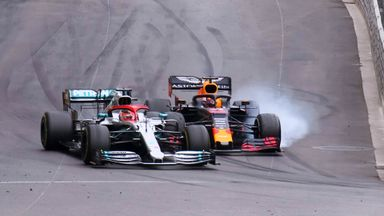 Hamilton and Verstappen collide!