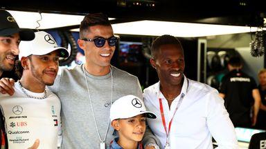Hamilton meets Ronaldo