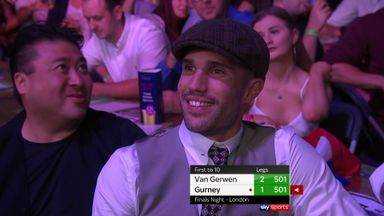 Van Persie booed at the darts!