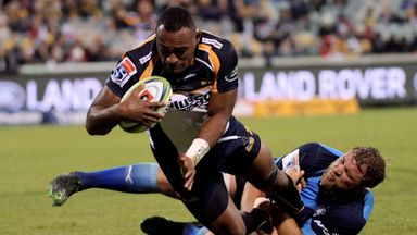 Kuridrani hat-trick as Brumbies win