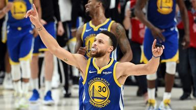 Curry fires for Game 4 triple-double