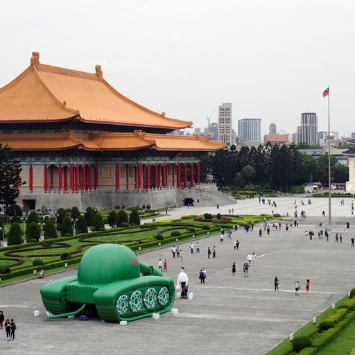 Tiananmen Square: Iconic 'tank man' image recreated as inflatable art