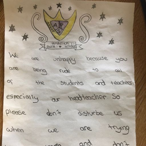 LGBT row school pupils pen letter to protesters asking them 'not to disturb us'