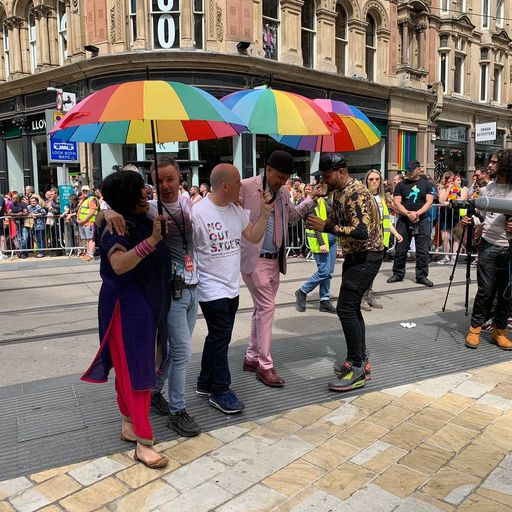 Teacher in LGBT classes row leads Birmingham Pride