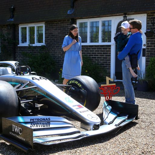 F1 car sent to home of terminally ill boy who 'inspired' GP win