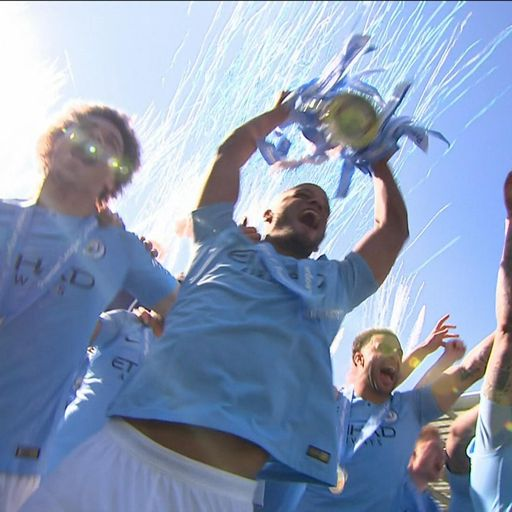 Manchester City win Premier League for second time in a row after victory over Brighton