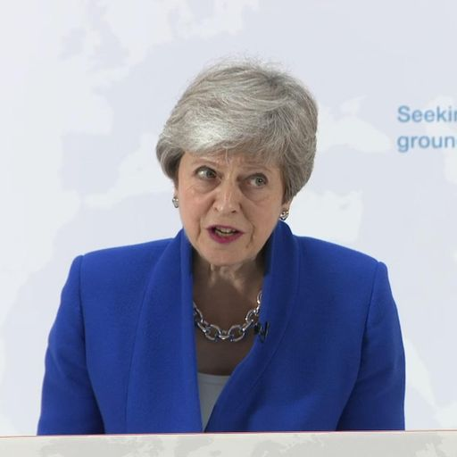 LIVE: Theresa May reveals details of Brexit 'new deal'
