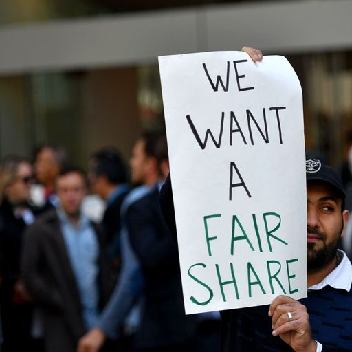 Uber drivers strike over company's' 'orgy of greed'