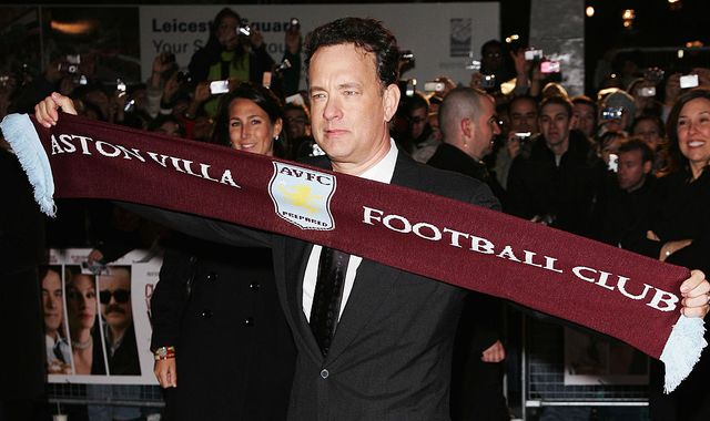 'Up the Villa!' - Tom Hanks cheers for his favourite team