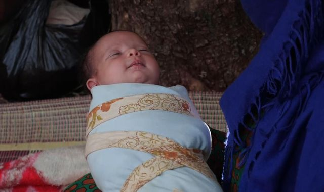 Pregnant mothers give birth in olive groves after fleeing Syria violence
