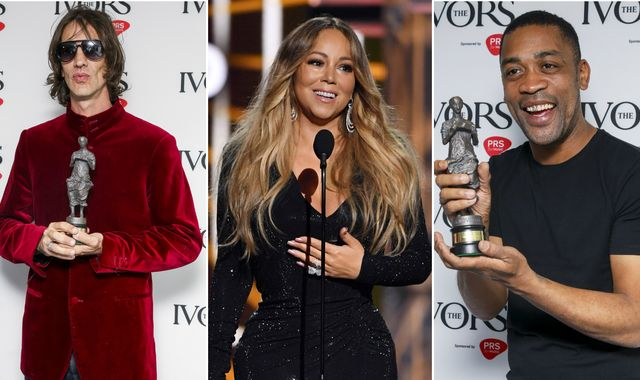 Ivor Novello Awards: Richard Ashcroft, The 1975, Mariah Carey and Wiley among winners