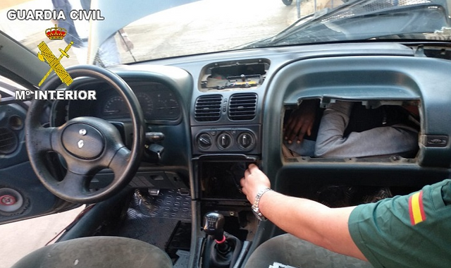 Refugee found hiding in car glove box in desperate attempt to reach Europe