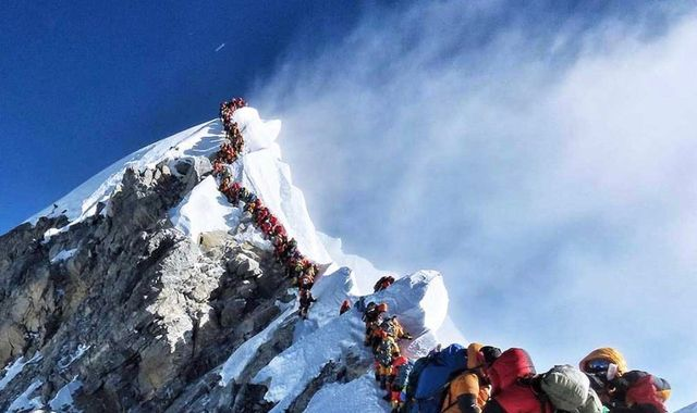 Everest 'traffic' blamed for deaths of climbers on overcrowded mountain