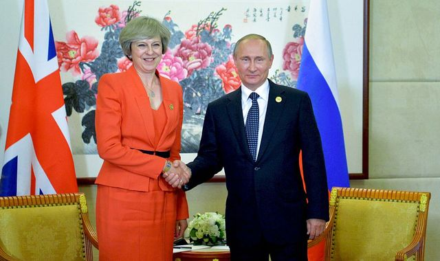 Theresa May to hold talks with Vladimir Putin at G20 summit in Japan