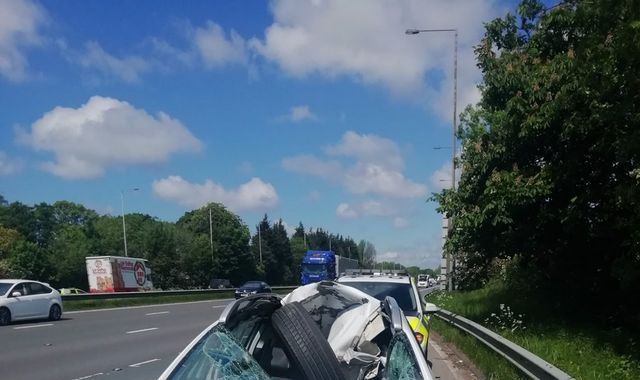 Lancashire driver escapes with minor injuries after lorry tyre smashes through windscreen