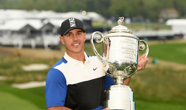 Brooks Koepka pips Dustin Johnson to retain PGA Championship title