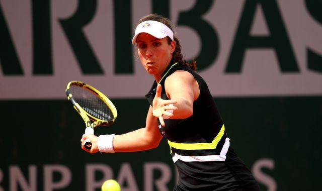 Johanna Konta beats Antonia Lottner to reach French Open second round