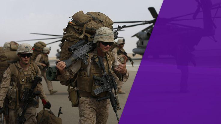 US marines depart Afghanistan in 2014