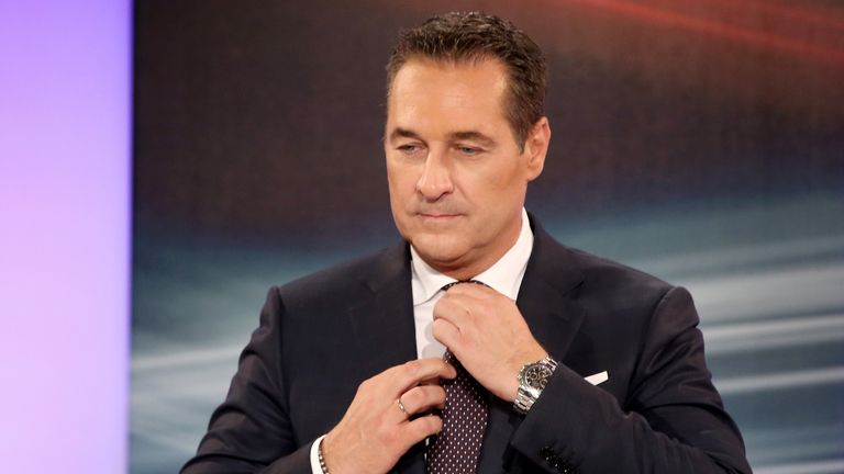 Mr Strache was caught bribing a Russian businesswoman
