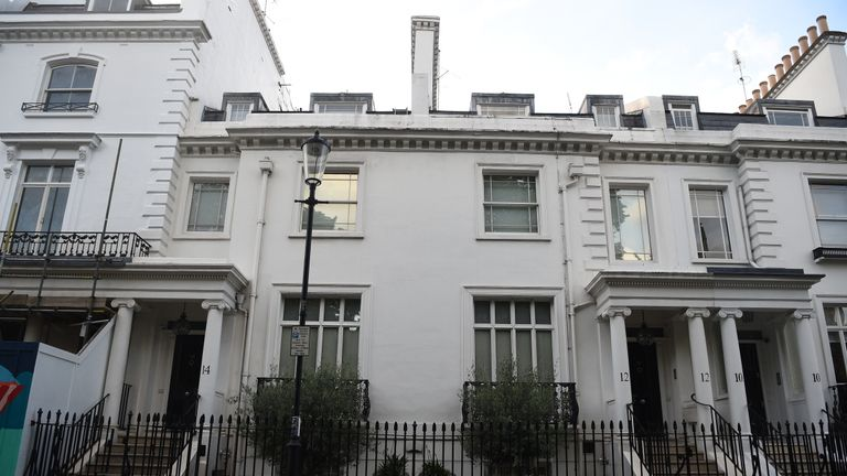EMBARGOED TO 1200 TUESDAY MAY 28 The home of Jahangir and Zamira Hajiyeva on Walton Street, Knightsbridge, purchased in 2009 for 11.5 million. A judge found mother-of-three Mrs Hajiyeva spent more than 16 million in luxury department Harrods store, including almost 500,000 in a single day, during a decade-long spending spree between September 2006 and June 2016.