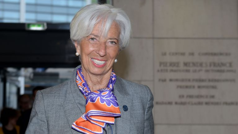 IMF Managing Director Christine Lagarde arrives to attend the Paris Forum at the Economy Ministry in Paris on May 7, 2019. (Photo by ERIC PIERMONT / AFP)        (Photo credit should read ERIC PIERMONT/AFP/Getty Images)