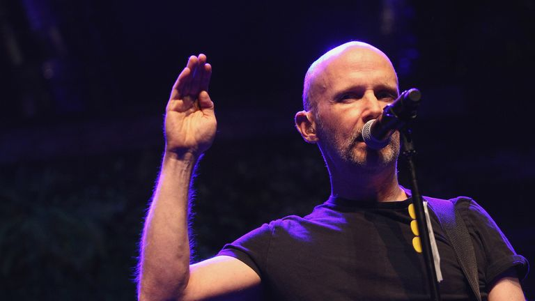 LOS ANGELES, CA - APRIL 21:  Moby performs on stage during The Humane Society Of The United States' To The Rescue! Los Angeles Gala at Paramount Studios on April 21, 2018 in Los Angeles, California.  (Photo by Tommaso Boddi/Getty Images)