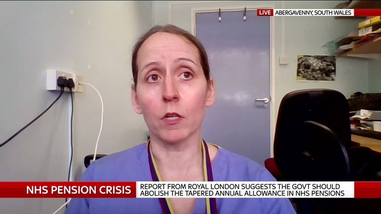 NHS consultant Dr Ami Jones says pensions rules are penalising doctors