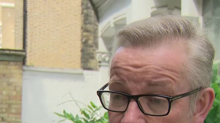 Michael Gove quizzed by Sky News