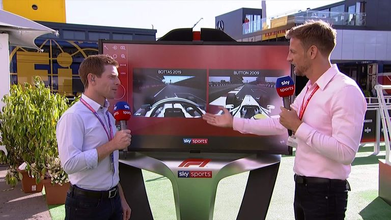 WATCH: Brawn 2009 vs Mercedes 2019 Barcelona pole laps in a SkyPad special with Jenson and Anthony