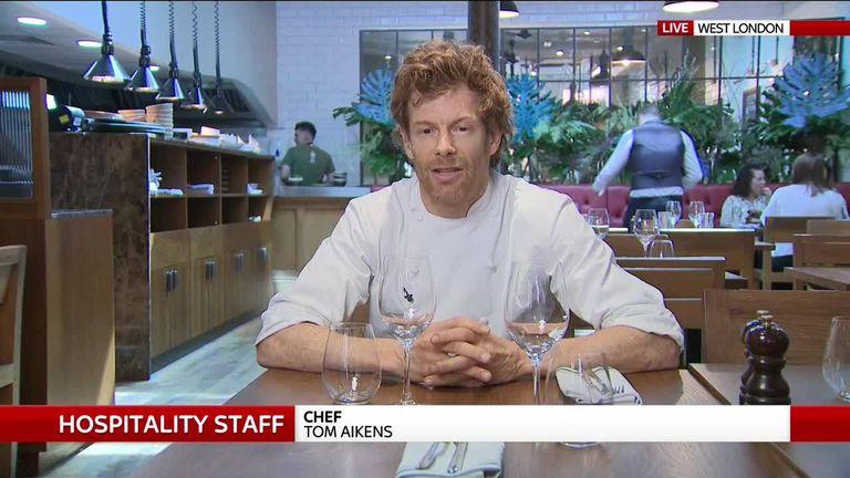 Chef Tom Aikens speaks to Sky's Ian King