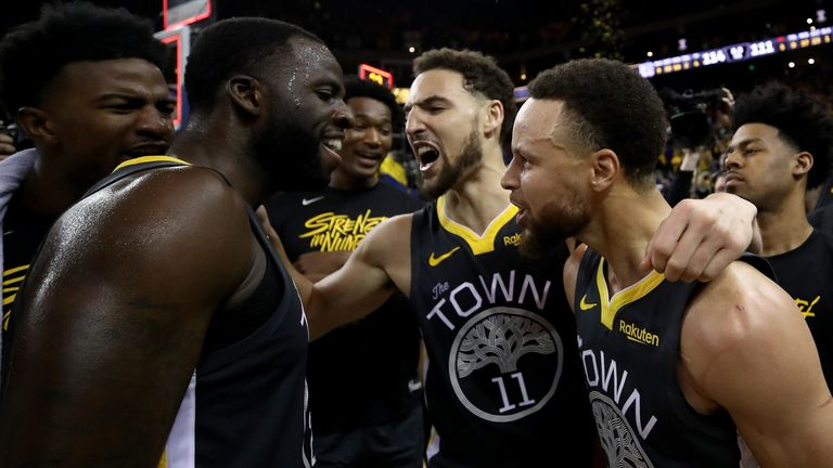 Head coach Steve Kerr called his team's third-quarter play 'amazing' as Golden State overcame a 15-point half-time deficit to win Game 2 against Portland