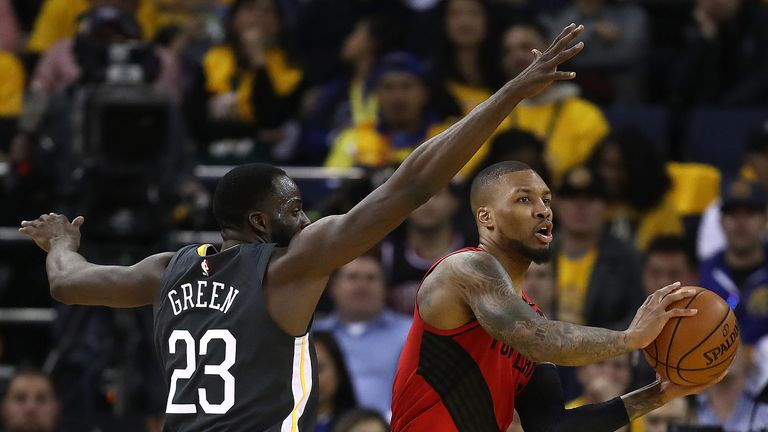 Highlights from the Golden State Warriors 114-11 Game win over the Portland Trail Blazers