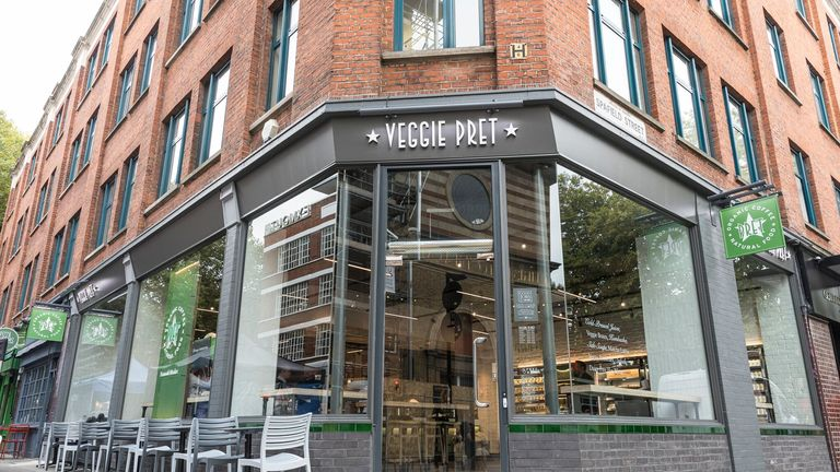 A Veggie Pret in Exmouth Market, London. Pic: Pret a Manger