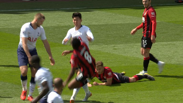 Tottenham duo Heung-Min Son and Juan Foyth were both sent off in the 1-0 defeat to Bournemouth, as Spurs missed the chance to secure Champions League football
