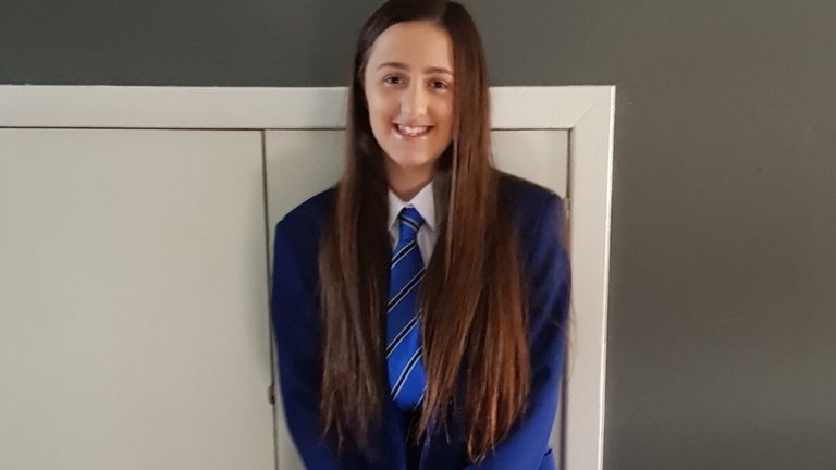 Abbie McLaren, 12, was fatally injured after the vehicle driven by her father's cousin hit her in the road