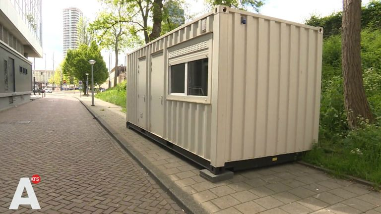 The £100-a-night lodging was found to be a shipping container at the side of the road