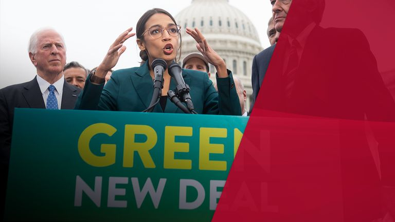 "Alexandria Ocasio-Cortez is one of the key voice pushing for a  ""Green New Deal"""