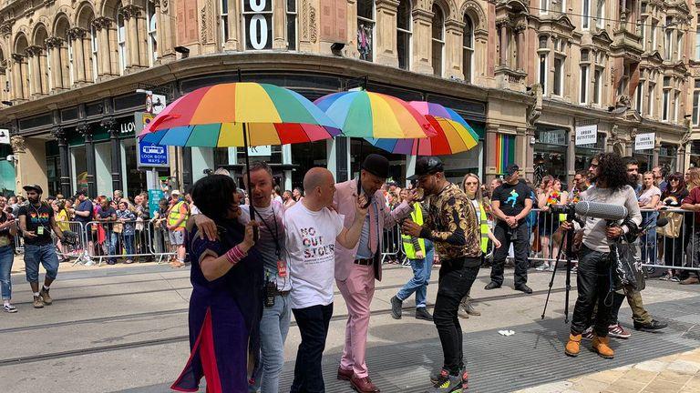 Teacher in LGBT classes row leads Birmingham Pride