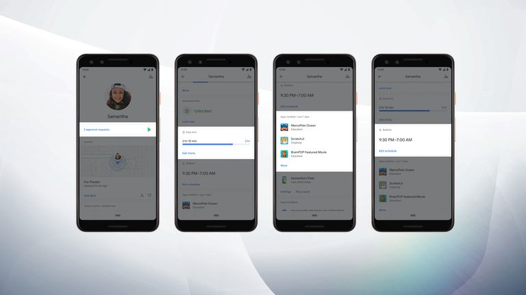 Family Link features in Android Q