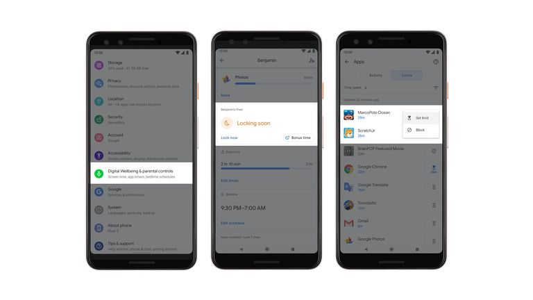 Android Q wellbeing