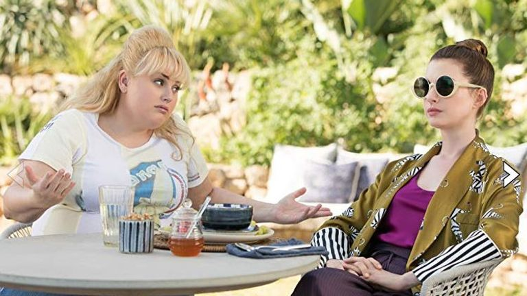 Anne Hathaway and Rebel Wilson in The Hustle