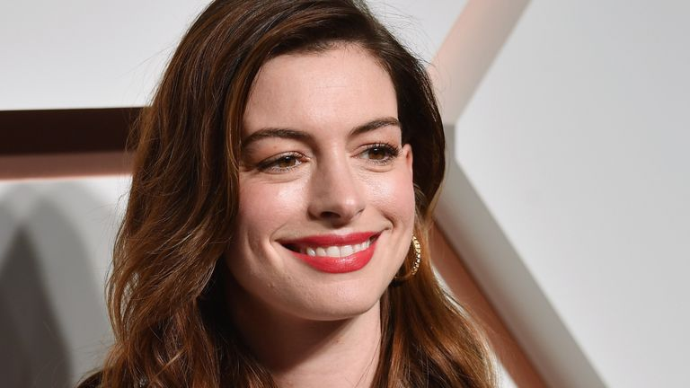 Anne Hathaway pictured in New York March 2019