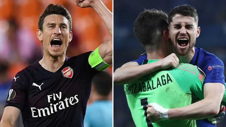 06a82d35b Arsenal and Chelsea celebrated success in the Europa League semi-finals
