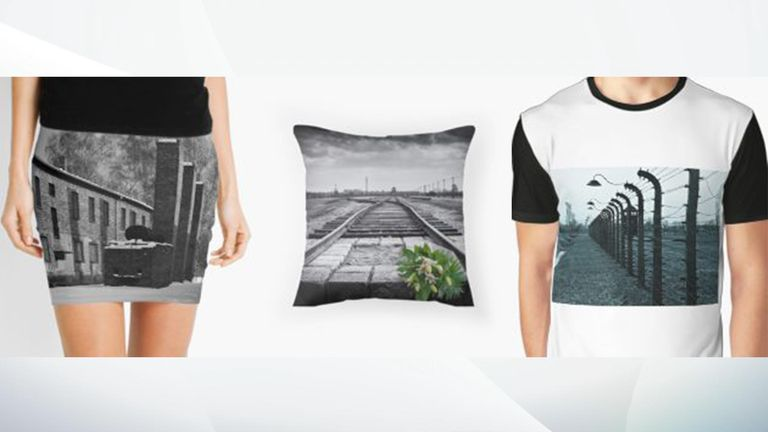 Items on sale include a skirt and cushion