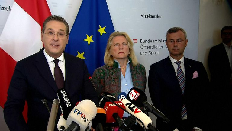 Mr Strache told a press conference he had been set up