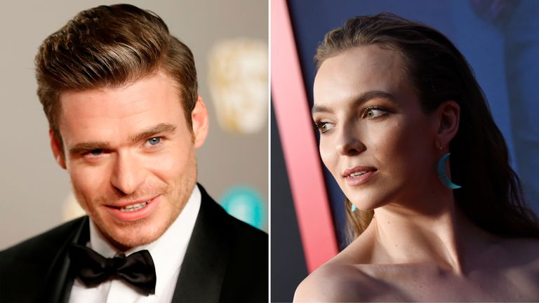 Richard Madden, who stars in Bodyguard, and Killing Eve actress Jodie Comer