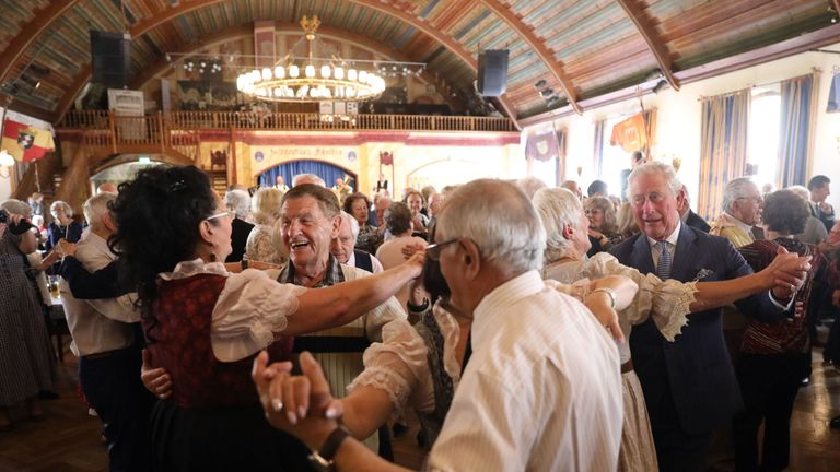 They visited a traditional dance hall